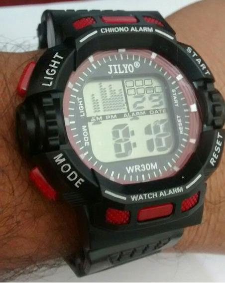 Relógio Masculino Digital Led Troca De Cor Kit C/ 2 Relógios