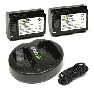 Wasabi Power Battery 2 Pack Y Dual Usb Charger Para Sony Npf