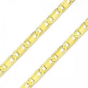 Corrente Em Ouro 18k Piastrine De 1mm Com 60cm