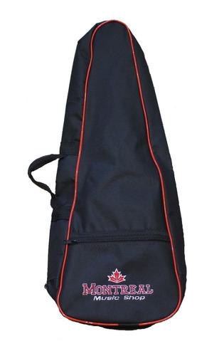 Bag Para Ukulele Concert Montreal Simples Preto + Nf