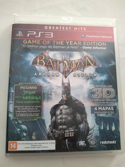 Batman Arkham Asylum Goty Edition Ps3 Mídia Física Novíssimo