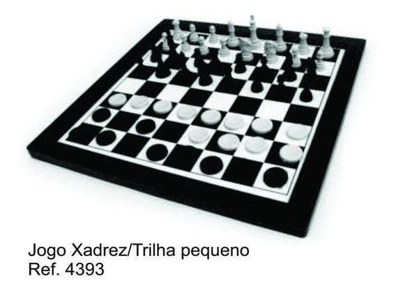 Jogo Xadrez Trilha Pequeno 12 Un + Jogo Uno