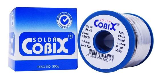 Estanho Cobix P/ Solda Rolo Azul - Fio 1,0 Mm - 500g