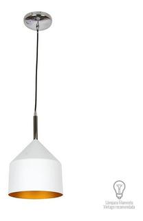 Lampara Colgante Vintage Blanca Moderna 20w Ctl-7432/b