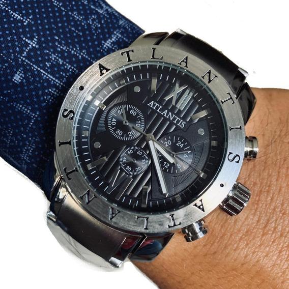 Relógio Masculino Original Atlantis A3310 BvLG+frete