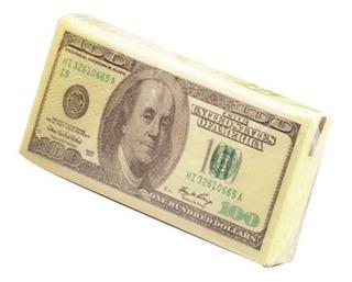 Paquete 10 Servilletas Impresion 100 Dolares Mini 10 X 5 Cms