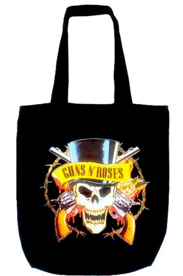 Bolsa Tecido Estampa Banda Guns N´ Roses Rock Show Presente