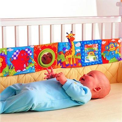 Livro De Montessori Com Espelho E Para Amarrar Em Berço