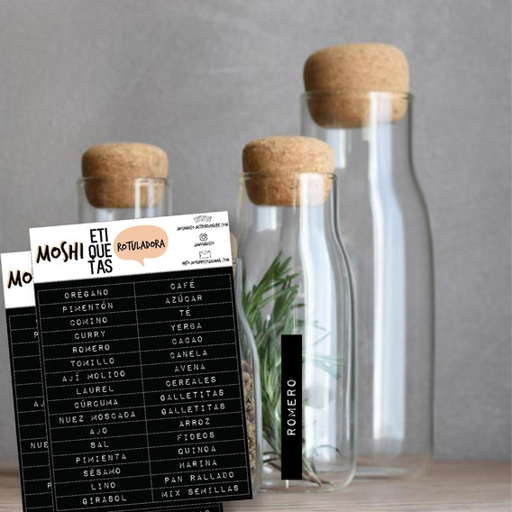 Etiquetas Vinilos Condimentos Frascos Alacena