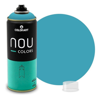 Tinta Spray Colorart Nou Colors P/ Grafiteiros - Azul Retro