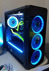Pc Gamer Rgb Gtx 1070 E Fx 8350 + Monitor + Brinde