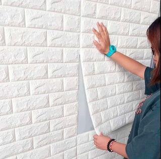 Painel 3d Tijolo Branco 77 X 70 Auto Adesivo Promoção Novo
