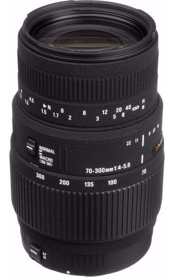 Sigma 70-300mm F4-5.6 Dg Macro Para Canon Em 12x Sem Juros