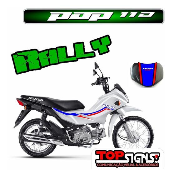 Adesivos Faixas Emblema Pop 110 Rally Personalizados