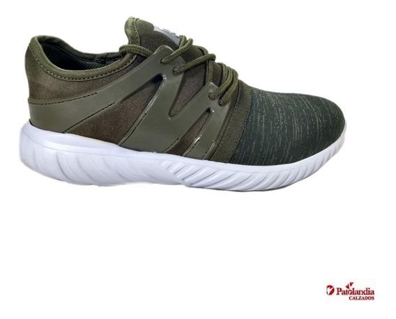 Zapatilla Hombre Deportivas Running Gummi Fitness Crossfit Verde N°39/45