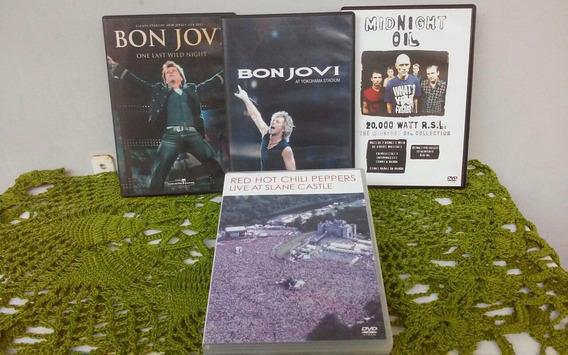 4 Dvds Rock Internacional -bonjovi, Red Hot, Midnight Oil