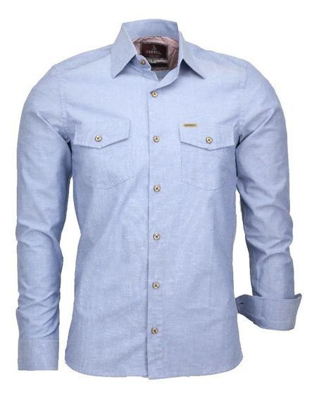 Camisa Casual Masculina Para Todas Ocasiões Safari M Longa