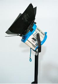 Kit Fresnel Arri 650w+tellem+led Color Dmx+lampadas+3tripés