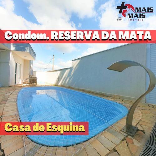 Imagem 1 de 15 de Esquina 320m Com Piscina E Edícula Casa Reserva Da Mata - Reservaesq