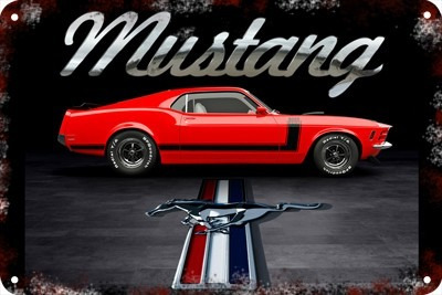 Poster Carteles Antiguos 60x40cm Ford Mustang Shelby Au-049