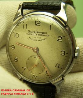 Reloj Girard Perregaux Cuervo Y Sobrino Original Caja Acero