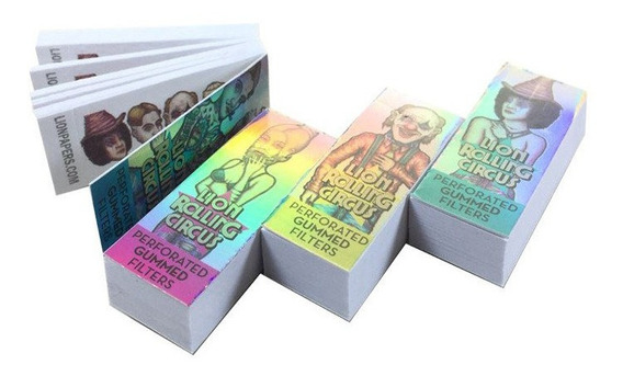 Filtro Tips Carton Lion Silver Large X 40 Unidades Grandes