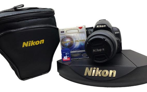 Camera Nikon D3000 Kit 18-55mm + Acessórios Seminova Barata