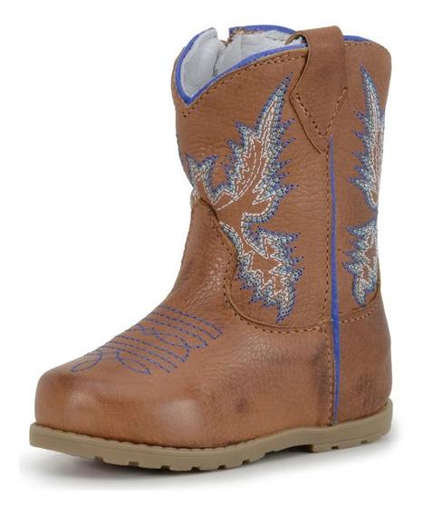 Bota Country Texana Infantil Baby Cowboy Kpl 054 Castor Azul