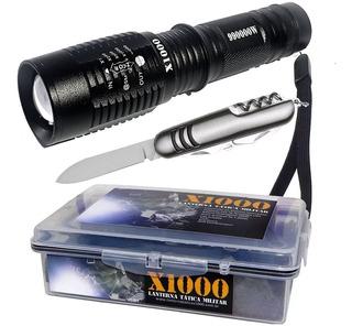 Lanterna Led Tática Police Militar Melhor Que X900 Potente