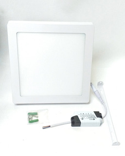 Panel Plafon Led Cuadrado 18w Exterior Aplique Blanco
