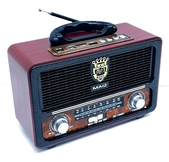 Bocina Radio Antiguo Bc140, Am/fm/sw Bluetooth,auxiliar,usb