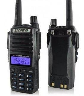 Radio Comunicador Baofeng Uv-82 Rádio Fm E Fone De Ouvido