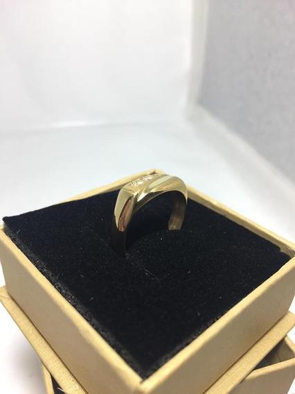Anel De Ouro Com Brilhantes 3g - 01