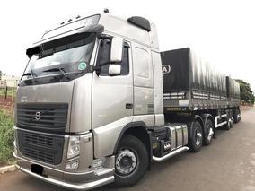 Volvo Fh 460 6x4 Ishift Globetrotter Ano 2013 Bitrem 7 Eixos