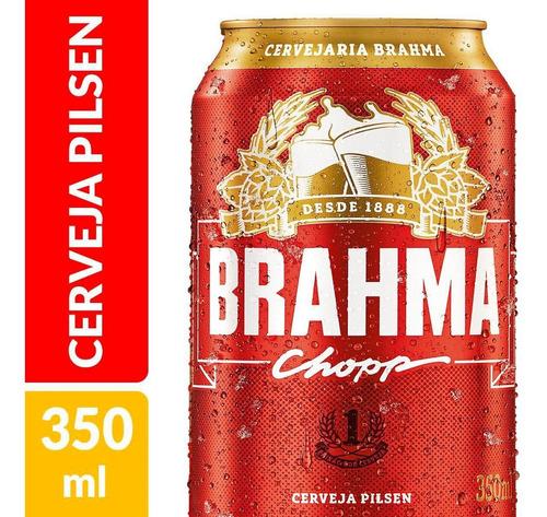 Kit Com 12 Unid Cerveja Brahma Pilsen 350ml Lata