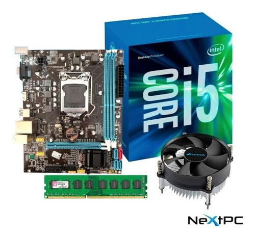 Imagem 1 de 6 de Kit I5 3470 3.60 Ghz + Placa H61 1155 + 8gb Ddr3 + Cooler