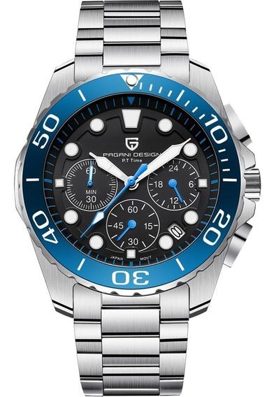 Pagani Design Sport Acero & Azul Cuarzo Reloj Diego Vez