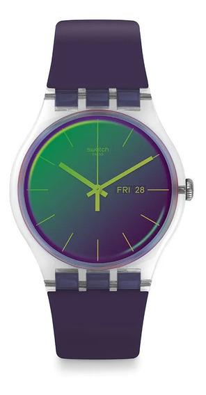 Reloj Swatch Polapurple Suok712 Mujer Envio Gratis
