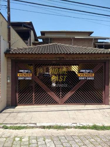 Sobrado Com 3 Dormitórios À Venda, 252 M² Por R$ 1.000.000,00 - Vila Augusta - Guarulhos/sp - So0498