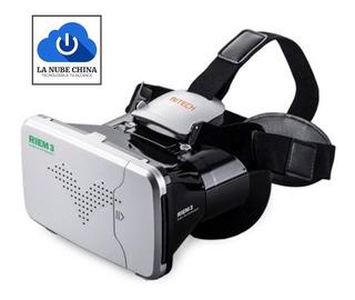 Lentes Realidad Virtual 3d Cardboard Ritech Riem Iii +regalo