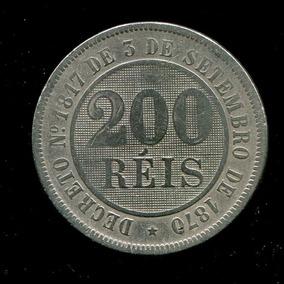 Moeda Império Do Brasil - 200 Réis - 1889 - Níquel - Bc L20