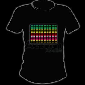 Painel De Led Para Camiseta Ativado Por Música Com Pilhas