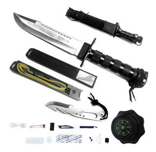 Cuchillo Kit Supervivencia Tactico Cold Steel Funda Cordura