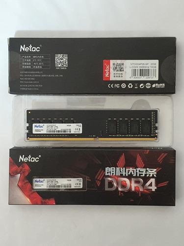 Imagem 1 de 7 de Memória Ddr4 16 Gb Netac , 1.2v, 3000 Mhz , Garantia, Nfe