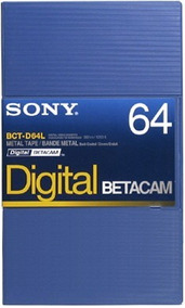 Sony Fita Video Betacam Digital Bct-d64l 64 Minutos Kit 10