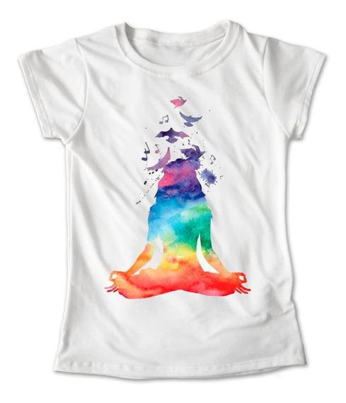 Blusa Yoga Namaste Playera Pilates Fitness Colores Aves #242