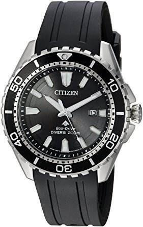 Relógio Masculino Citizen Bn0190-07e Diver Eco Drive Preto