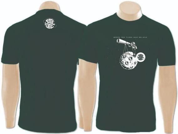 Camisa Algodão - Feminina - Astronauta - Cervejaria Satélite
