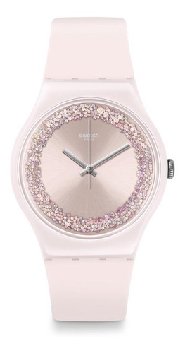 Reloj Swatch Rosa Con Cristales Swarovski Suop110