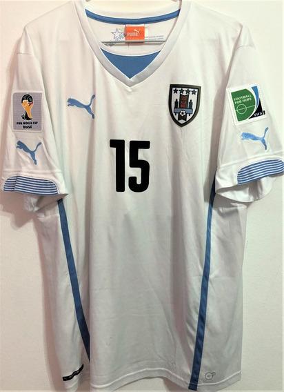 Camisa Uruguai Copa Do Mundo 2014 D. Perez #15 Completa